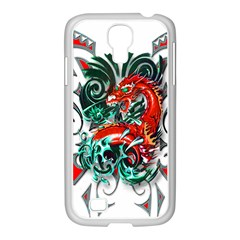 Tribal Dragon Samsung GALAXY S4 I9500/ I9505 Case (White)