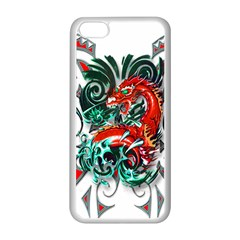 Tribal Dragon Apple iPhone 5C Seamless Case (White)