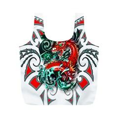 Tribal Dragon Reusable Bag (M)