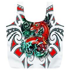 Tribal Dragon Reusable Bag (XL)