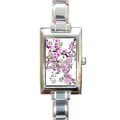 Cherry Bloom Spring Rectangular Italian Charm Watch