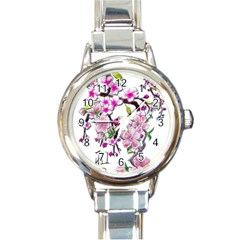 Cherry Bloom Spring Round Italian Charm Watch