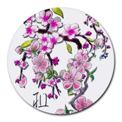 Cherry Bloom Spring 8  Mouse Pad (round)