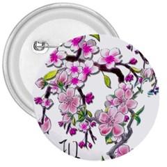 Cherry Bloom Spring 3  Button
