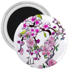 Cherry Bloom Spring 3  Button Magnet