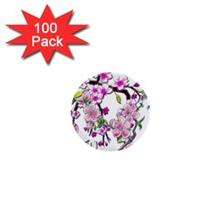 Cherry Bloom Spring 1  Mini Button (100 pack)
