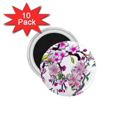 Cherry Bloom Spring 1.75  Button Magnet (10 pack)