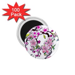 Cherry Bloom Spring 1 75  Button Magnet (100 Pack)