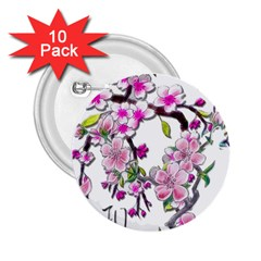 Cherry Bloom Spring 2.25  Button (10 pack)