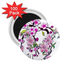 Cherry Bloom Spring 2.25  Button Magnet (100 pack)