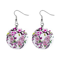 Cherry Bloom Spring Mini Button Earrings