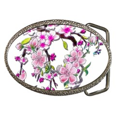 Cherry Bloom Spring Belt Buckle (Oval)