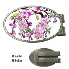 Cherry Bloom Spring Money Clip (Oval)