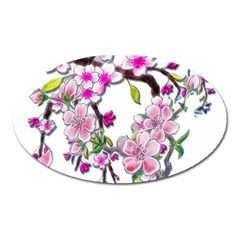 Cherry Bloom Spring Magnet (Oval)