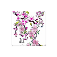 Cherry Bloom Spring Magnet (Square)