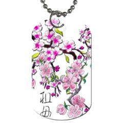 Cherry Bloom Spring Dog Tag (One Sided)