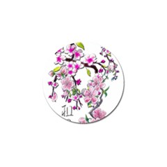 Cherry Bloom Spring Golf Ball Marker