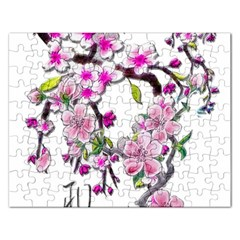 Cherry Bloom Spring Jigsaw Puzzle (rectangle)