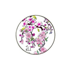 Cherry Bloom Spring Golf Ball Marker (for Hat Clip)