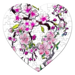Cherry Bloom Spring Jigsaw Puzzle (Heart)