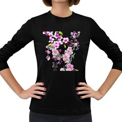 Cherry Bloom Spring Women s Long Sleeve T-shirt (Dark Colored)