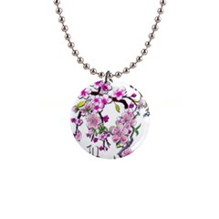Cherry Bloom Spring Button Necklace