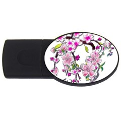 Cherry Bloom Spring 4gb Usb Flash Drive (oval)