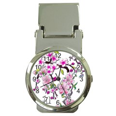 Cherry Bloom Spring Money Clip with Watch