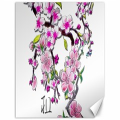 Cherry Bloom Spring Canvas 12  X 16  (unframed)
