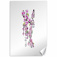 Cherry Bloom Spring Canvas 24  X 36  (unframed)