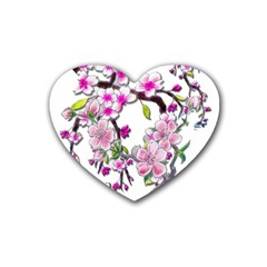 Cherry Bloom Spring Drink Coasters 4 Pack (Heart)