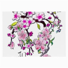Cherry Bloom Spring Glasses Cloth (large, Two Sided)