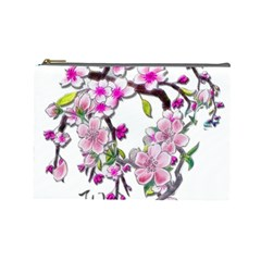 Cherry Bloom Spring Cosmetic Bag (large)