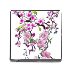 Cherry Bloom Spring Memory Card Reader With Storage (square)