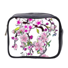 Cherry Bloom Spring Mini Travel Toiletry Bag (two Sides)