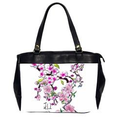 Cherry Bloom Spring Oversize Office Handbag (Two Sides)