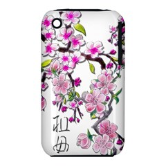 Cherry Bloom Spring Apple iPhone 3G/3GS Hardshell Case (PC+Silicone)