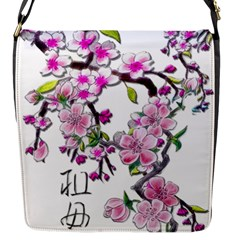 Cherry Bloom Spring Flap Closure Messenger Bag (Small)