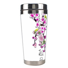 Cherry Bloom Spring Stainless Steel Travel Tumbler
