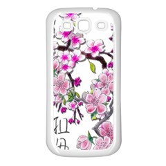 Cherry Bloom Spring Samsung Galaxy S3 Back Case (white)