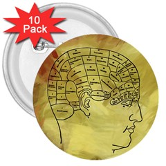 Brain Map 3  Button (10 Pack)