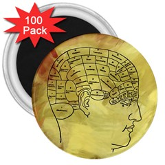 Brain Map 3  Button Magnet (100 pack)