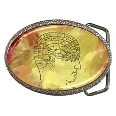 Brain Map Belt Buckle (oval)