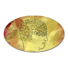 Brain Map Magnet (oval)