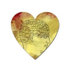 Brain Map Magnet (Heart)