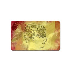 Brain Map Magnet (name Card)