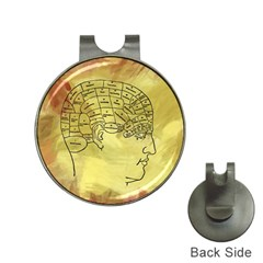 Brain Map Hat Clip with Golf Ball Marker