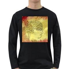 Brain Map Men s Long Sleeve T-shirt (Dark Colored)