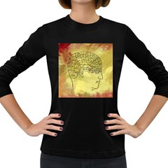 Brain Map Women s Long Sleeve T-shirt (Dark Colored)