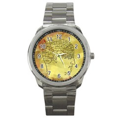 Brain Map Sport Metal Watch